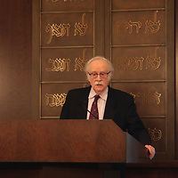 Canter Don Kartiganer led the memorial following normal Shabbat service Saturday at Temple B'Nai Israel