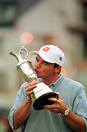 PAUL LAWRIE WITH THE OPEN CHAMPIONSHIP TROPHY 1999<br />