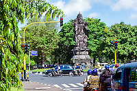 Bali, Denpasar. The capital center. All roundabouts on Bali seem to have a large sculpture in the center.