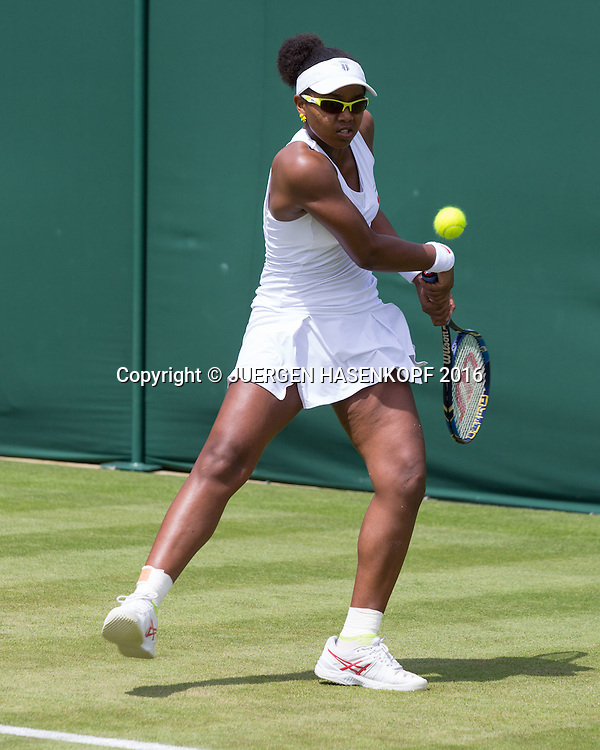 Victoria Duval (USA)<br /> <br /> Tennis - Wimbledon 2016 - Grand Slam ITF / ATP / WTA -  AELTC - London -  - Great Britain  - 27 June 2016.