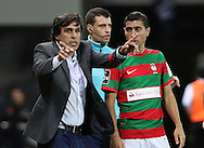 Maritimo´s coach Daniel Ramos  reacts during  Portuguese First League football match Maritimo vs Sporting held at Barreiros Stadium, Funchal, Portugal, 21 January, 2017.  EPA / GREGÓRIO CUNHA