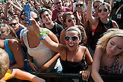 Fans enjoy Twenty One Pilots performing at Bunbury Music Festival at Yeatman's Cove in Cincinnati, Ohio on July 13, 2013.