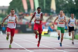 DERUS Michal, GONZALEZ ISIDORIA Raciel, PATMORE Simon, TRUNOV Vadim, POL, CUB, AUS, RUS, 200m, T46, 2013 IPC Athletics World Championships, Lyon, France