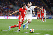 Wales midfielder Joe Allen during the UEFA European 2020 Qualifier match between Wales and Azerbaijan at the Cardiff City Stadium, Cardiff, Wales on 6 September 2019.