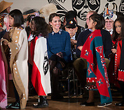 VANCOUVER -BC- CANADA - 25th-Sept 2016. <br /> The Duke and Duchess of Cambridge visit the remote community of Bella Bella on their tour of Canada.<br /> The weather shortened the programme as Will and Kate meet members of the local Fist Nation Community and watch a cultural performance.<br /> ©Exclusivepix Media