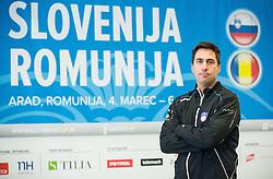 Ziga Janskovec during press conference of Slovenian Men Tennis Team for Davis Cup Romania vs Slovenia competition, on February 24, 2016 in Kristalna palaca, Ljubljana, Slovenia. Photo by Vid Ponikvar / Sportida