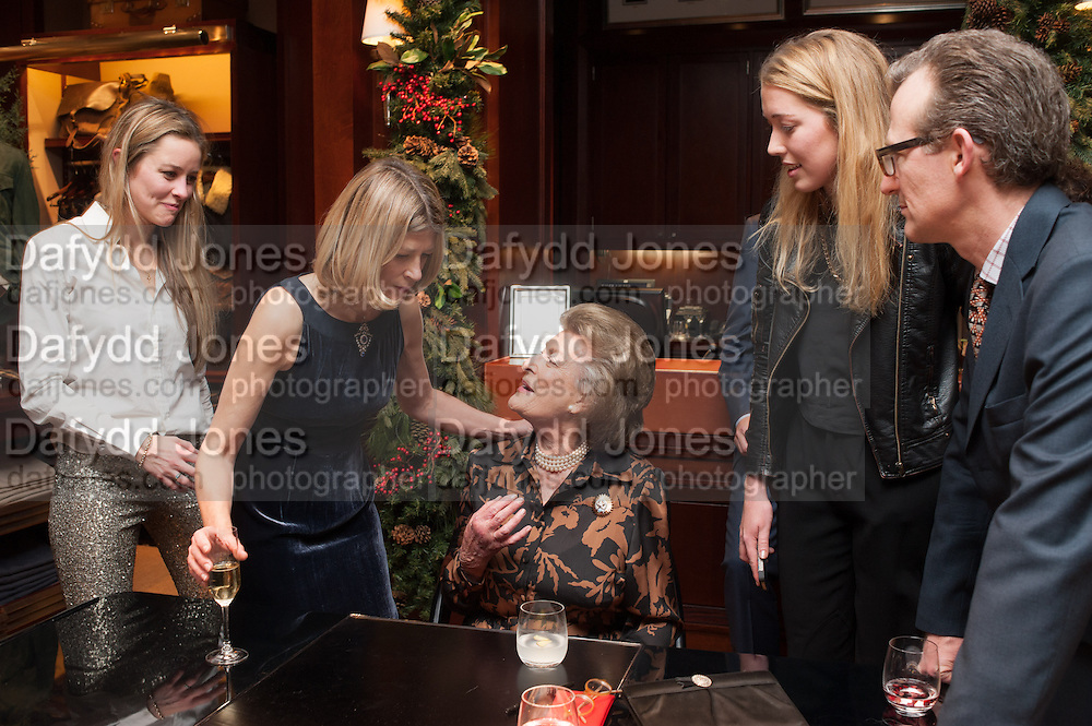 MADDISON MAY BRUDENELL;; EDWINA HICKS;  ASHLEY HICKS; LADY PAMELA HICKS, , Book launch for ' Daughter of Empire - Life as a Mountbatten' by Lady Pamela Hicks. Ralph Lauren, 1 New Bond St. London. 12 November 2012.