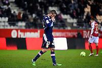 Expulsion Cedric CAMBON  - 13.12.2014 - Reims / Evian Thonon  - 18eme journee de Ligue1<br />Photo : Fred Porcu / Icon Sport