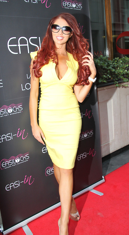 © London News Pictures. Amy Childs arriving at the Easilocks VIP launch, Sanctum Soho Hotel London UK, 09 July 2013. Photo credit: Richard Goldschmidt/LNP