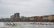 Putney. London, Varsity Fixtures,  CUBC power away from NED. OUBC vs Molesey BC. and CUBC vs Select NED crew. on the championship Course Putney to Mortlake.  ENGLAND. <br /> <br /> Saturday  21/03/2015<br /> <br /> [Mandatory Credit; Intersport-images]