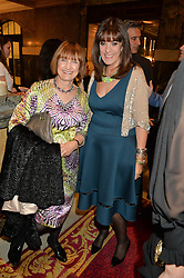 Left to right, DAME TESSA JOWELL and BARONESS GAIL REBUCK at the LDNY Fashion Show and WIE Award Gala sponsored by Maserati held at The Goldsmith's Hall, Foster Lane, City of London on 27th April 2015.