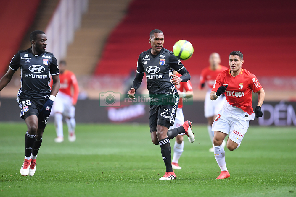 February 4, 2018 - Monaco, France - 20 RONY LOPES (mon) - 06 MARCELO (ol) - 28 Tanguy NDOMBELE  (Credit Image: © Panoramic via ZUMA Press)