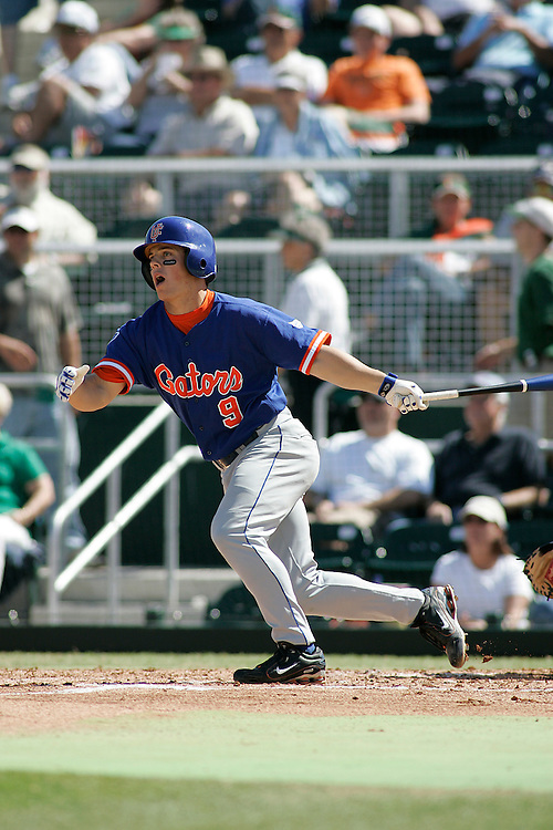 University of Florida shortstop Adam Davis in action during the Gators 4-1 victory over the Miami Hurricanes on February 18, 2006 at Mark Light Field in Coral Gables, Florida.