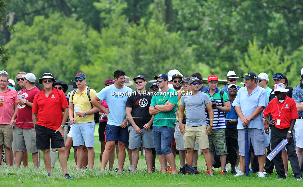 Spectators during the 2015 South Africa Golf Open Championship at the Glendower Golf Course in Johannesburg, South Africa on January 10, 2014 ©Samuel Shivambu/BackpagePix