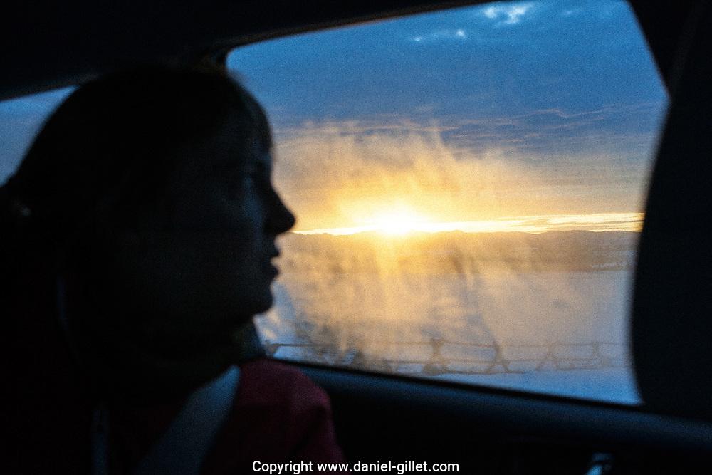 Sur la route vers Bozeman, Montana.