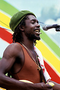 Peter Tosh during sound check at Reggae Sunsplash - 1978
