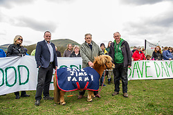 Pictured: Andy Wightman. Farm owner Jim Telfer and Ian Baxter<br /> <br /> The Scottish Green Party's Andy Wightman, MSP, joined local election candidate Ian Baxter at the proposed site of a new film studio in Edinburgh ahead of the local council elections.<br /> Ger Harley | EEm 17 April 2017