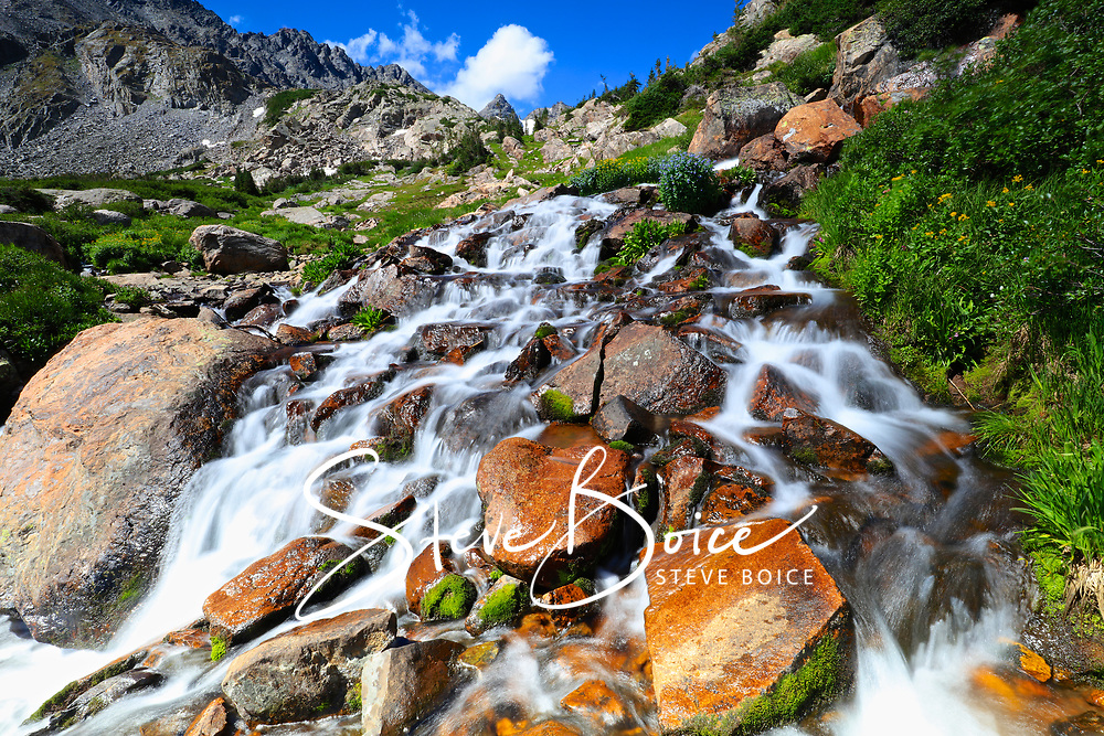 Waterfall on the trail to Pawnee Pass in the Indian Peaks Wilderness, Colorado