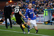 Carlisle United Midfielder Jason Kennedy on the attack during the Sky Bet League 2 match between Carlisle United and York City at Brunton Park, Carlisle, England on 23 January 2016. Photo by Craig McAllister.
