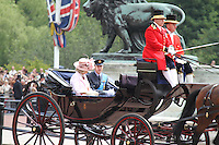 Camilla; Prince William Queen's Birthday Parade, Trooping The Colour, UK, 12 June 2010:  For piQtured Sales contact: Ian@Piqtured.com +44(0)791 626 2580 (Picture by Richard Goldschmidt/Piqtured)