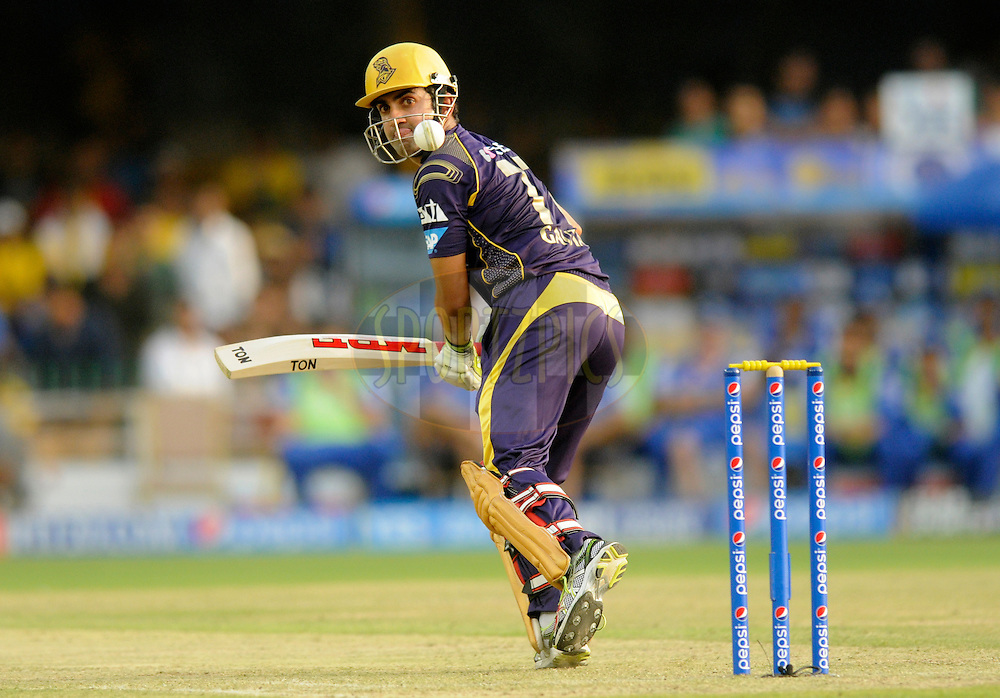 Gautam Gambhir captain of the Kolkata Knight Riders bats during match 25 of the Pepsi Indian Premier League Season 2014 between the Rajasthan Royals and the Kolkata Knight Riders held at the Sardar Patel Stadium, Ahmedabad, India on the 5th May  2014<br /> <br /> Photo by Pal Pillai / IPL / SPORTZPICS      <br /> <br /> <br /> <br /> Image use subject to terms and conditions which can be found here:  http://sportzpics.photoshelter.com/gallery/Pepsi-IPL-Image-terms-and-conditions/G00004VW1IVJ.gB0/C0000TScjhBM6ikg
