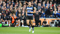 Bath's Sam Burgess re-enters the field of play after receiving a Yellow Card.  - Mandatory byline: Alex Davidson/JMP - 07966 386802 - 17/10/2015 - RUGBY - The Recreation Ground - Bath, England - Bath Rugby v Exeter Chiefs - Aviva Premiership