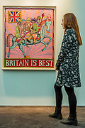 Britain is Best by Grayson Perry (£45k) - The 30th London Art Fair 2018 at the Business Design Centre, Islington.
