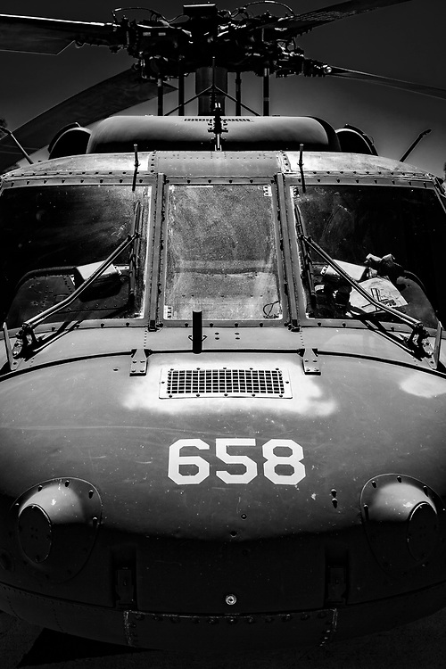 Nose of a UH-60 helicopter, from the South Carolina National Guard.