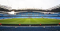 A general view of the Etihad Stadium before kick off as the Middlesbrough players inspect the pitch - Photo mandatory by-line: Matt McNulty/JMP - Mobile: 07966 386802 - 24/01/2015 - SPORT - Football - Manchester - Etihad Stadium - Manchester City v Middlesbrough - FA Cup Fourth Round