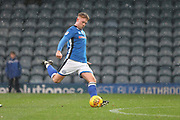 **GOAL** Callum Camps scores from a free kick 2-0 during the EFL Sky Bet League 1 match between Rochdale and Peterborough United at Spotland, Rochdale, England on 25 November 2017. Photo by Daniel Youngs.