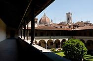 The cloister of the Church of San Lorenzo, Biblioteca Medicea Laurenziana, Florence, Italy