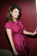 Jennifer Ouellette with Men in Ouellete's designed Hats at the Launch of Ouellete Hats for Men held at The Empire Hotel Rooftop on March 12, 2009 in New York City ..Jennifer Ouellette's presence in the fashion world continues to grow. Her designs have appeared in Vogue, W, In Style, Glamour, Domino, Modern Bride and Harper's Bazaar. Her work has been recognized in the fashion pages of the New York Times, seen on the NBC Today show and is frequently featured in the Barneys New York catalogs. Such luminaries as Jessica Simpson, Winona Ryder, Jennifer Lopez, Sarah Jessica Parker, Gwen Stefani, Britney Spears, Hilary Duff, Angelina Jolie and Deborah Messing are often seen wearing her hats and accessories.