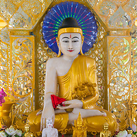MANDALAY , MYANMAR - SEP 02 : Interior of Sandamuni Pagoda in Mandalay, Myanmar on September 02 2017 , Sandamuni Pagoda is a Buddhist stupa located southwest of Mandalay Hill