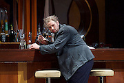 Rigoletto <br /> by Verdi <br /> English National Opera at the London Coliseum, London, Great Britain <br /> rehearsal <br /> 31st January 2017 <br /> <br /> <br /> <br /> Nicholas Pallesan as Rigoletto <br /> <br /> <br /> <br /> <br /> <br /> Photograph by Elliott Franks <br /> Image licensed to Elliott Franks Photography Services