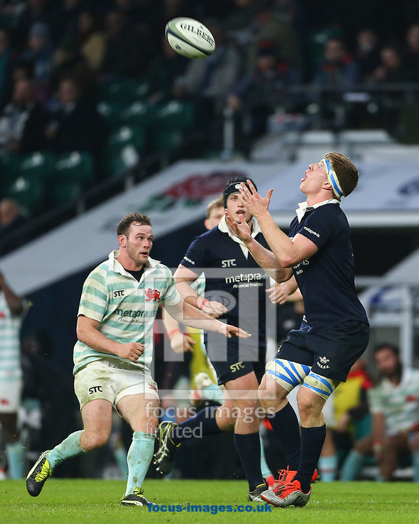 Daniel Dass (c) of Cambridge University catches a kick during The Varsity Match at Twickenham Stadium, Twickenham<br /> Picture by Mark Chappell/Focus Images Ltd +44 77927 63340<br /> 08/12/2016