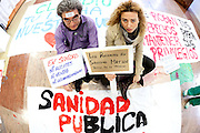 Juan and Sonia Martin, 2 nurses of the Hospital La Princesa, against the privatization of the public health in Spain