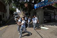 Students leave school, Seoul, South Korea. 2009<br /> <br /> Sortie du lycee, Seoul, Coree du Sud.