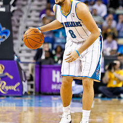 December 17, 2010; New Orleans, LA, USA; New Orleans Hornets shooting guard Marco Belinelli (8) against the Utah Jazz during the second half at the New Orleans Arena.  The Hornets defeated the Jazz 100-71. Mandatory Credit: Derick E. Hingle