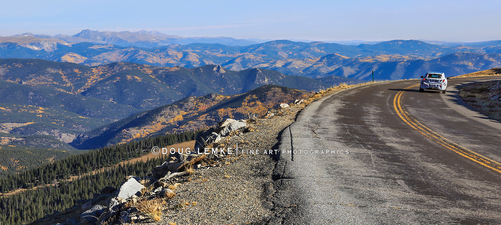Along the road to mount evans in the colorado rockies, USA