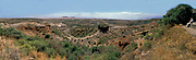 Overview of Olduvai Gorge, central Tanzania.