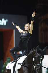 Lucy Phillips, (GBR), Pitucelli, Elizabeth Phillips - Individuals Women Final Vaulting - Alltech FEI World Equestrian Games™ 2014 - Normandy, France.<br /> © Hippo Foto Team - Jon Stroud<br /> 05/09/2014