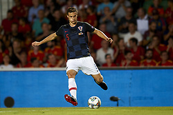 September 11, 2018 - Elche, Spain - Matej Mitrovic of Croatia goes passed during the UEFA Nations League football match between Spain and Croatia at Martinez Valero Stadium in Elche, Spain on September 11, 2018. (Credit Image: © Jose Breton/NurPhoto/ZUMA Press)