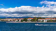 Old Town Zadar from the Adriatic, Dalmatian Coast, Croatia