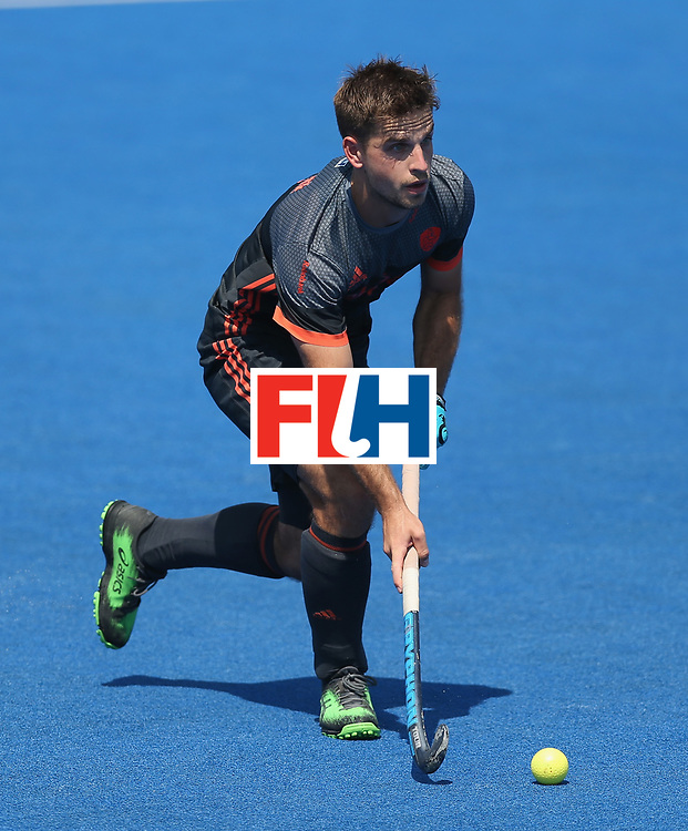 LONDON, ENGLAND - JUNE 20:  Tristan Algera of the Netherlands during the Pool B match between India and the Netherlands on day six of the Hero Hockey World League Semi-Final at Lee Valley Hockey and Tennis Centre on June 20, 2017 in London, England.  (Photo by Alex Morton/Getty Images)