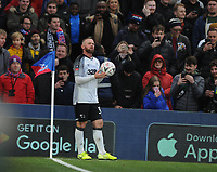 Football - 2019 / 2020 Emirates FA Cup - Third Round: Crystal Palace vs. Derby County<br /> <br /> Wayne Rooney of Derby waits to take a corner at Selhurst Park.<br /> <br /> COLORSPORT/ANDREW COWIE