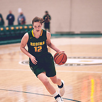 5th year forward, Christina McCusker (12) of the Regina Cougars during the Women's Basketball Home Game on Sat Nov 03 at Centre for Kinesiology,Health and Sport. Credit: Arthur Ward/Arthur Images