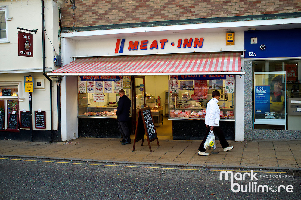Butchers shop called Meat Inn in Diss, Norfolk