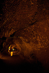 Interior of lava tube, Hawaii Volcanoes National Park, The Big Island, Hawaii, United States of America