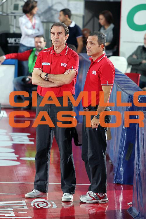 DESCRIZIONE : Varese Lega A 2010-11 Amichevole Cimberio Varese Dinamo Sassari<br /> GIOCATORE : Carlo Recalcati Guido Saibene<br /> SQUADRA : Cimberio Varese<br /> EVENTO : Campionato Lega A 2010-2011<br /> GARA : Amichevole Cimberio Varese Dinamo Sassari<br /> DATA : 21/09/2010<br /> CATEGORIA : Ritratto<br /> SPORT : Pallacanestro<br /> AUTORE : Agenzia Ciamillo-Castoria/G.Cottini<br /> Galleria : Lega Basket A 2010-2011<br /> Fotonotizia : Varese Lega A 2010-11 Amichevole Cimberio Varese Dinamo Sassari<br /> Predefinita :