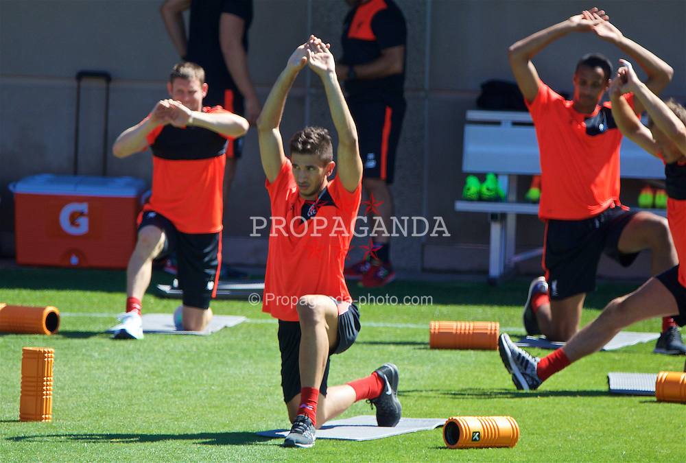 STANFORD, USA - Thursday, July 21, 2016: Liverpool's Marko Grujic during a training session in the Laird Q. Cagan Stadium at Stanford University on day one of the club's USA Pre-season Tour. (Pic by David Rawcliffe/Propaganda)